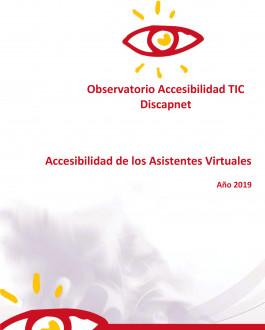Portada Accesibilidad de los Asistentes Virtuales Año 2019
