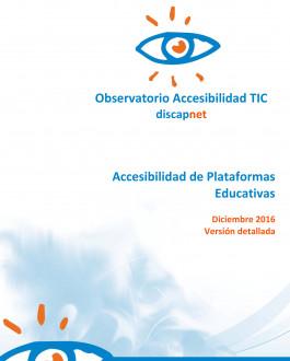 Portada Accesibilidad de Plataformas Educativas