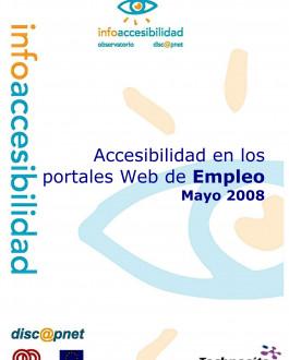 Portada Accesibilidad en los portales web de empleo