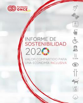 Portada Informe de Sostenibilidad de Fundación ONCE 2020: valor compartido para una economía inclusiva