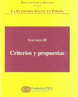 Portada del libro La economía social en España: criterios y propuestas (volúmen III)