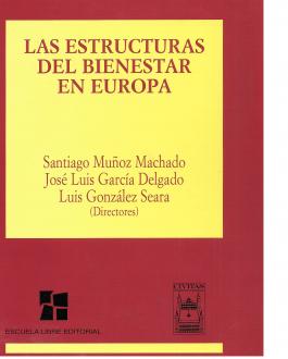 Portada del Libro las estructuras del bienestar en Europa
