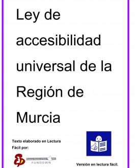 Portada Ley de accesibilidad universal de la Región de Murcia