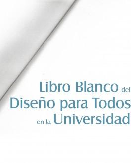 Portada de libro blanco del diseño para todos en la universidad