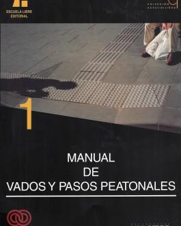 Portada del libro Manual de vados y pasos peatonales
