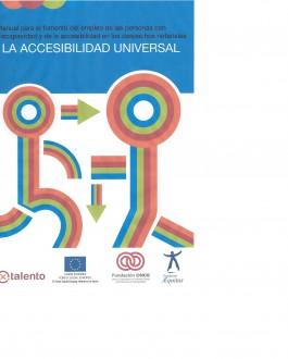 Portada del libro Manual para el fomento del empleo de las personas con discapacidad y de la accesibilidad en los despachos notariales