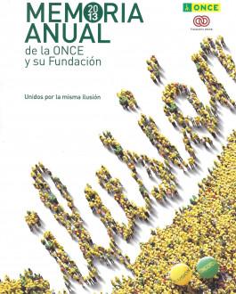 Portada Memoria anual 2013 de la ONCE y su Fundación