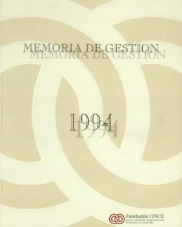 Portada Memoria de Fundación ONCE (1994)