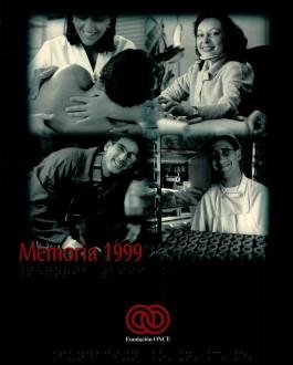 Portada de la Memoria de Fundación ONCE (1999)