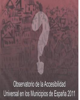 Portada del Libro Observatorio de la accesibilidad universal en los municipios de España 2011