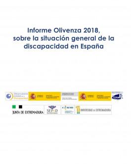 Portada Informe Olivenza 2018, sobre la situación general de la discapacidad en España