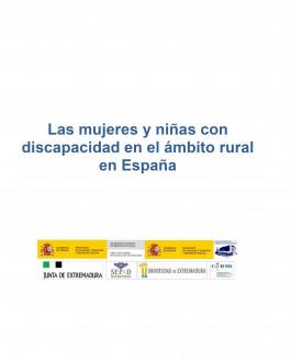 Portada Las mujeres y niñas con discapacidad en el ámbito rural en España