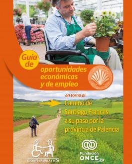 Portada Guía de oportunidades económicas y de empleo en torno al Camino de Santiago Francés a su paso por la provincia de Palencia