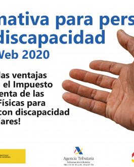 Portada Normativa específica para personas con discapacidad Renta 2020