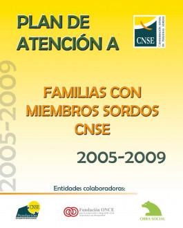 Portada Plan de Atención a Familias con Miembros Sordos (CNSE, 2005-2009)