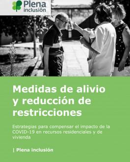 Portada Medidas de alivio y reducción de restricciones. Estrategias para compensar el impacto de la COVID-19 en recursos residenciales y de vivienda