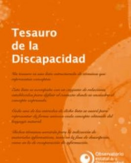 Portada del libro Tesauro de la discapacidad