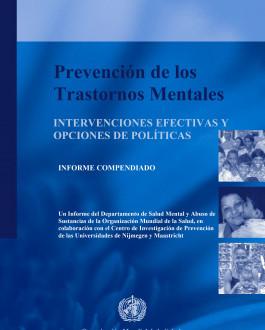 Portada del Libro Prevención de los Trastornos Mentales