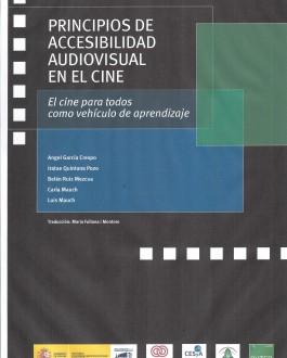 Portada del CD Principios de accesibilidad audiovisual en el cine
