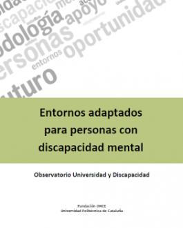 Portada del Libro Entornos adaptados para personas con discapacidad mental