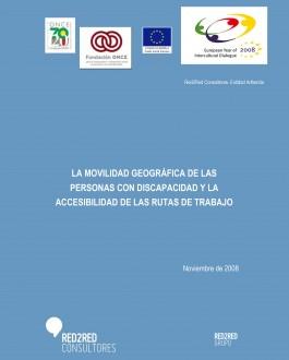 Portada La movilidad geográfica de las personas con discapacidad y la accesibilidad de las rutas de trabajo