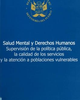 Portada del Libro Salud Mental y Derechos Humanos (Perú)