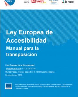 Portada Ley Europea de Accesibilidad. Manual para la transposición
